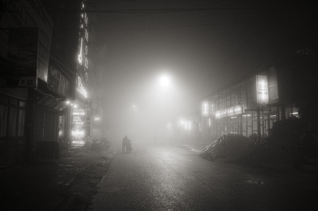 A misty night in Sapa