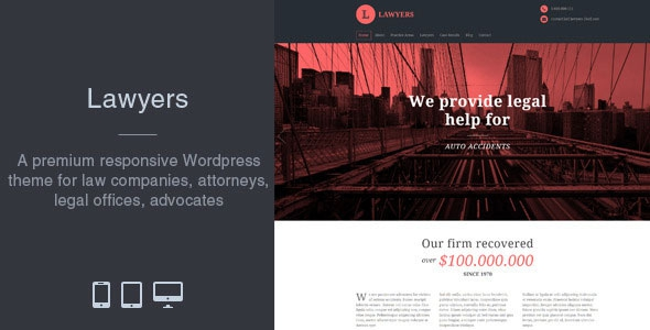 Lawyers v2.3.0 – Responsive Business WordPress Theme