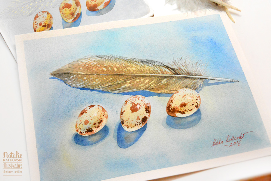Watercolor on Arche watercolor paper
