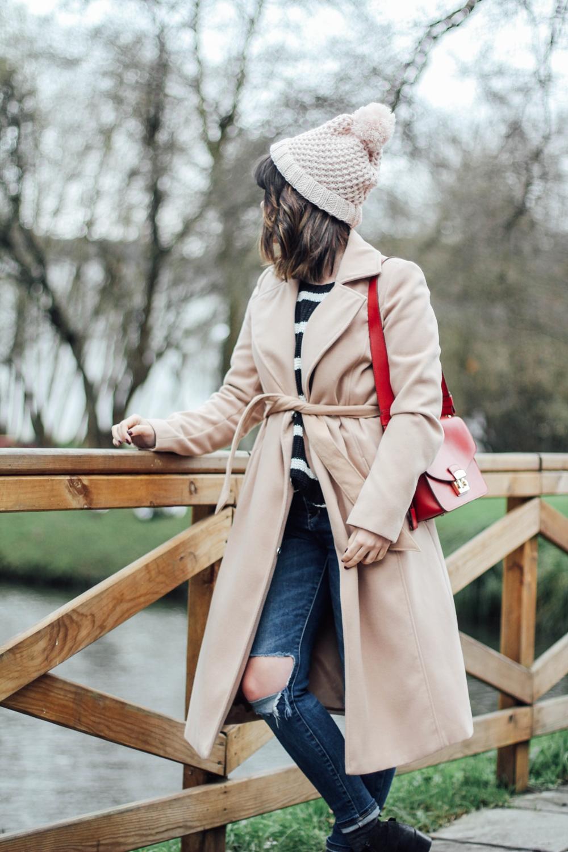 combinar abrigo beige tipo batin myblueberrynightsblog