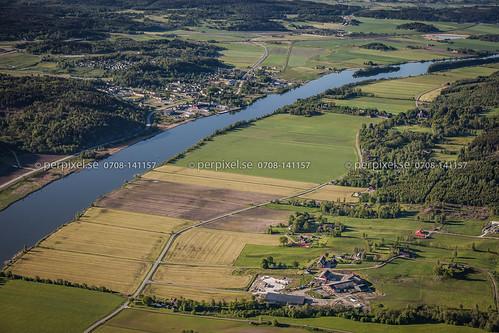sverige swe västragötaland 600m flygfoto lödöse svensered