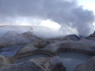 Εικόνα από Geysers Sol de Manana. geyser vulkan