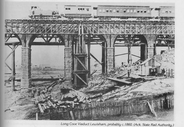 Long Cove Viaduct Lewisham c1885  -  Auburn Centenary 1983
