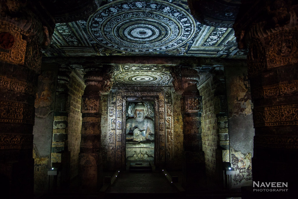 Pillared Antechamber   Ajanta Cave 1