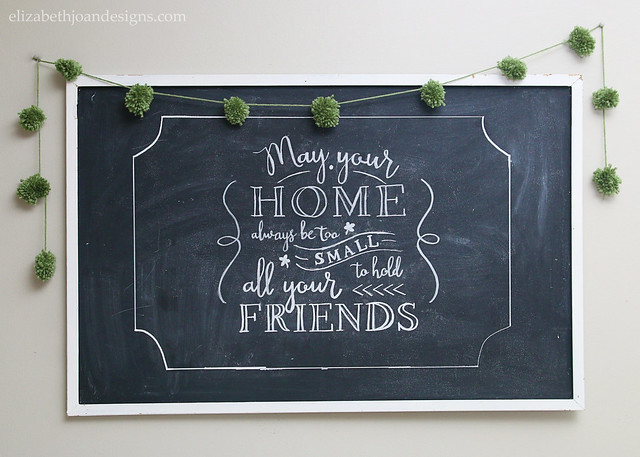 Irish Proverb Blessing Chalkboard