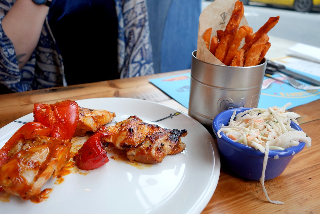 Cabana Brixton - Spicy Malagueta Chicken with Sweet Potato Fries