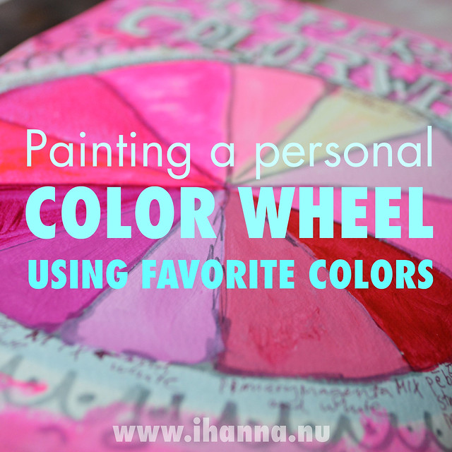 Painting a personal color wheel in PIN - art journal page by iHannaK