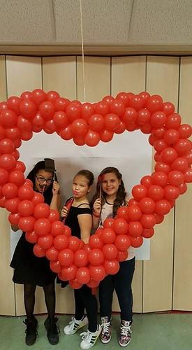 Ballonnenhart Valentijnsdisco CBS De Bron Spijkenisse