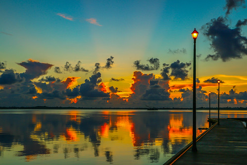 sky usa sun nature weather sunrise canon river outside outdoors photography photo florida calm photograph boardwalk stlucieriver stiart canon70d