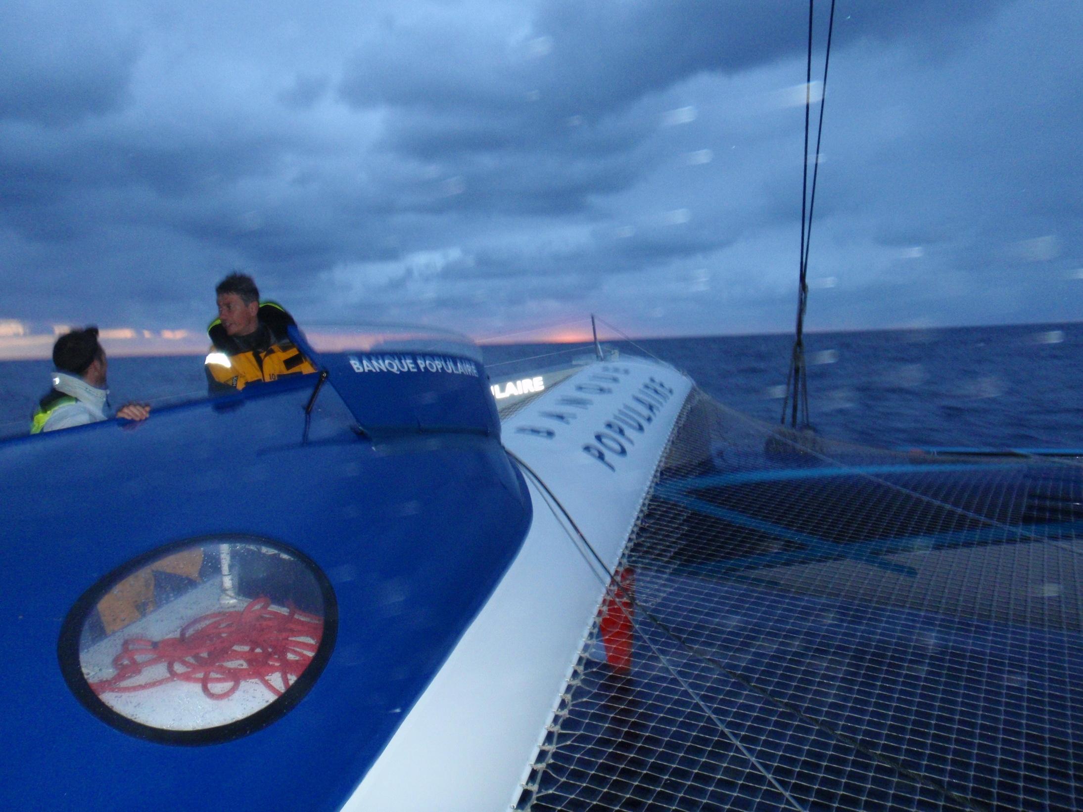 Image envoyee du bord  Trophee Jules Verne 2011 - 25112011 - BPCE