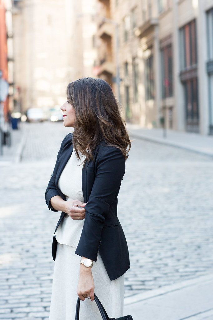 what to wear to work blazer j.crew banana republic dress peplum fendi black bag what to wear to work workwear office style corporate catwalk simple outfits to wear to work steve madden primpy heels nude heels new york fashion blogger