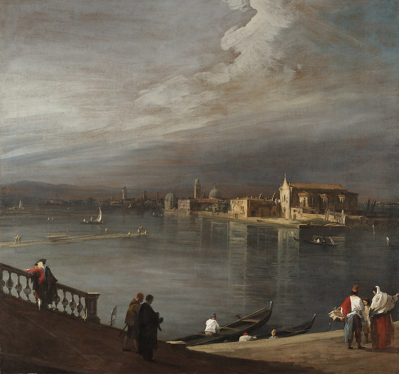 Giovanni Antonio Canal Canaletto - San Cristoforo, San Michele, and Murano from the Fondamenta Nuove, Venice (1722)