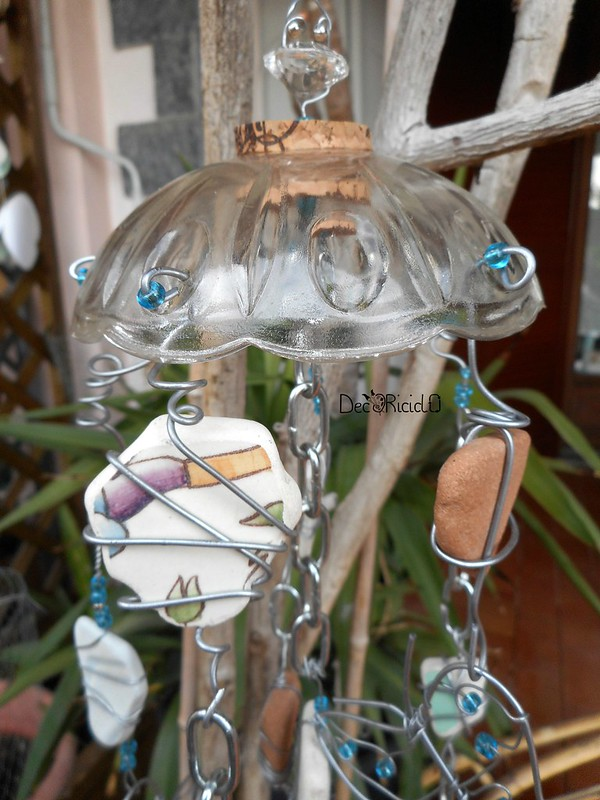 mobìle farfalle, vetro e ceramica 4