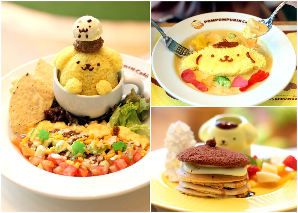 Pompompurin cafe food menu