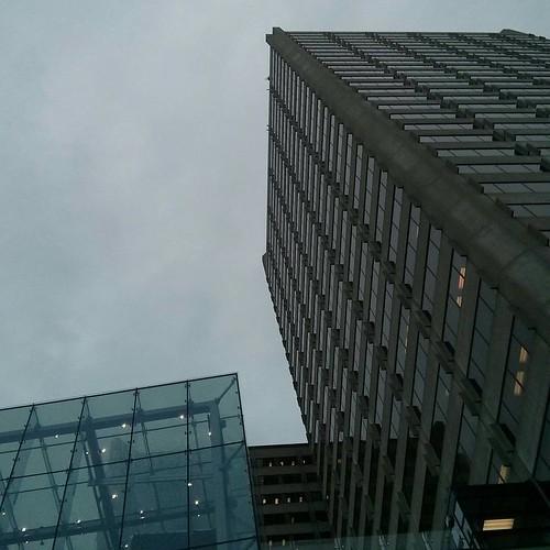 Looking up, Yonge-Eglinton Centre #toronto #yongeandeglinton #yongeeglintoncentre #skyscrapers #towers