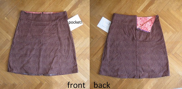 maroon canvas skirt