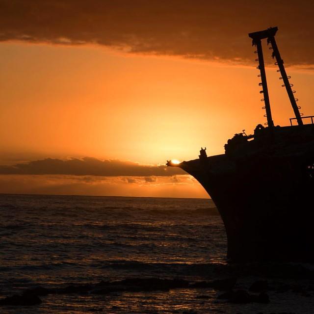 Sunset shipwreck ... memories of Cape Agulhas #sunset #shipwreck #capeagulhas #travel #travelphotography #canon #canonsa