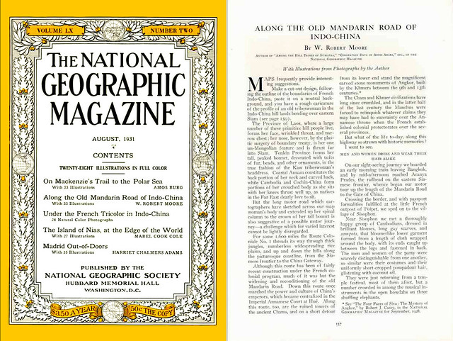 NATIONAL GEOGRAPHIC Magazine 1931-08 (1) ALONG THE OLD MANDARIN ROAD OF INDO-CHINA