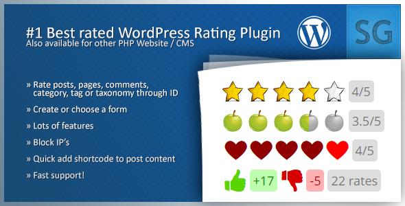 Codecanyon Rating Form v1.3.9 - Wordpress Plugin