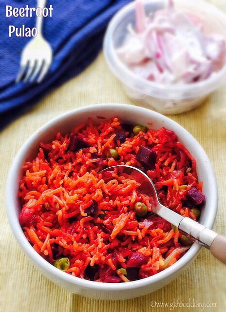 Beetroot Pulao Recipe for Babies, Toddlers and Kids - 4