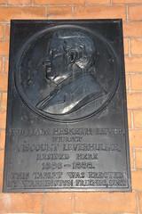 Photo of William Hesketh Lever black plaque