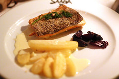 Char with potatoes and beetroots