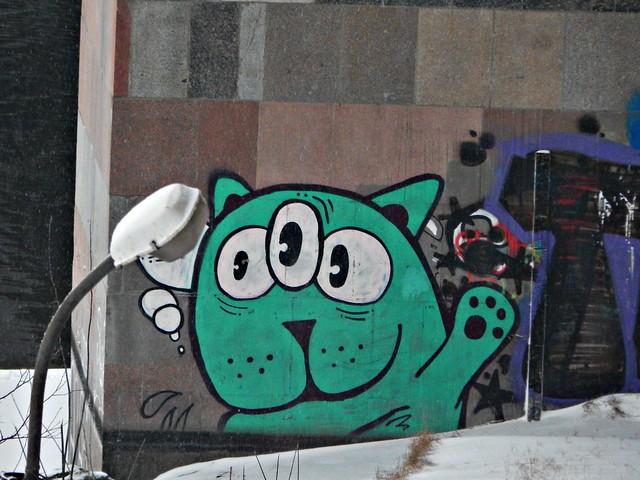 граффити с котом | ХорошоГромко.ру