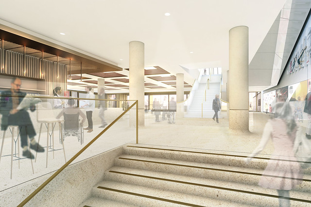Proposal for the Main Foyer Staira © Stanton Williams / ROH 2016