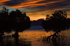 Sunset over Palawan Island