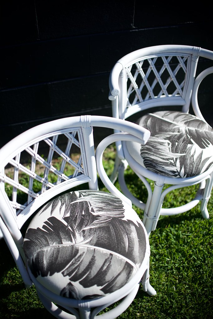 Before and after: cane chairs