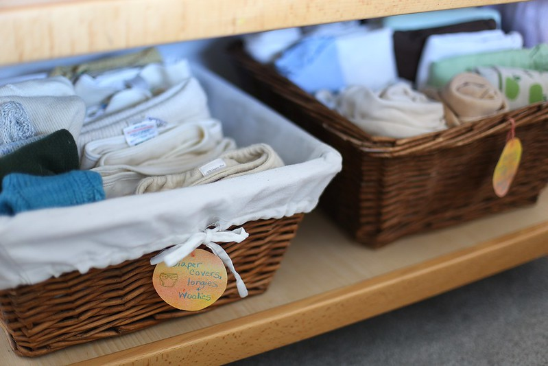 organizing the changing table