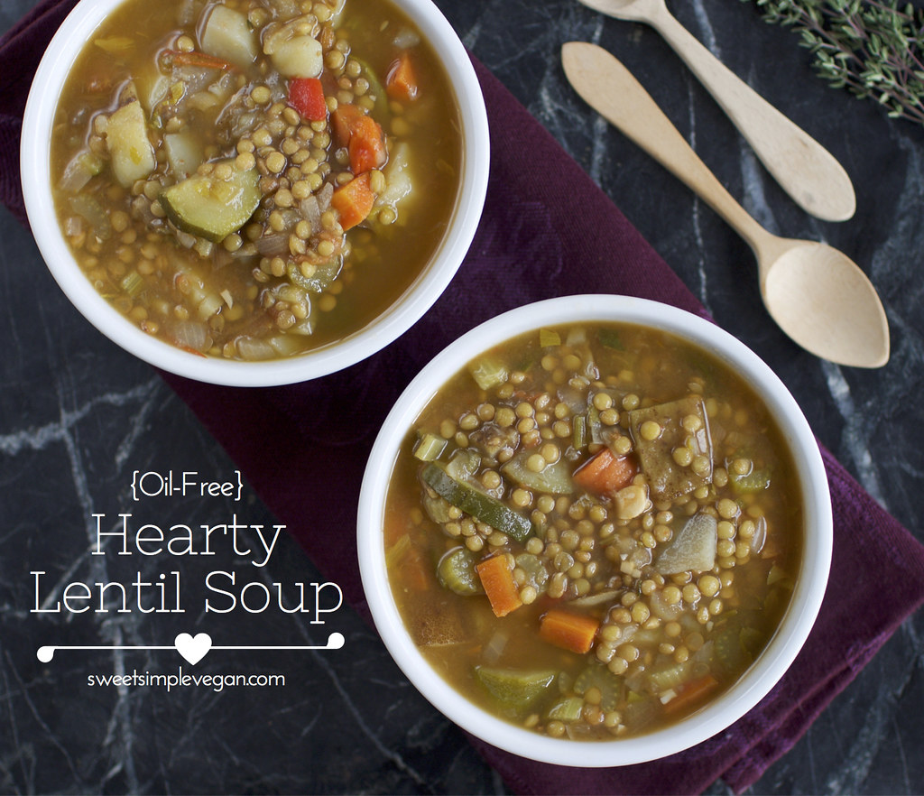 Image Gallery hearty lentil soup