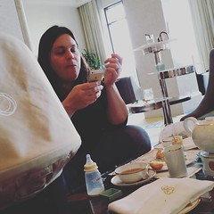 I love having tea with @fiercekitten 's phone
