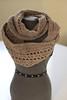 Mushroom Beige Handmade Crochet Infinity Scarf