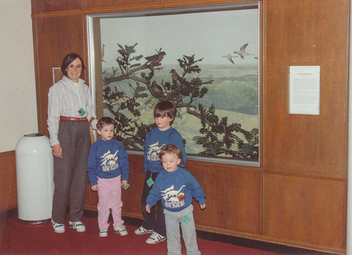 Me, Katie, Joey, and Tommy at the Bell Museum Passenger Pigeon exhibit