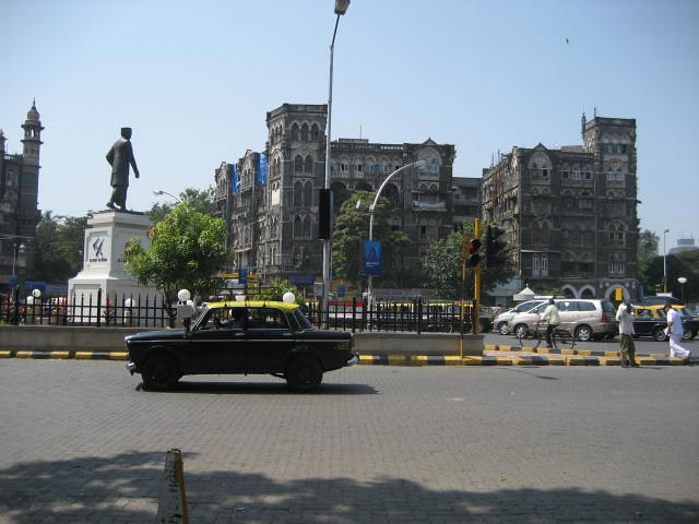 Mumbai city and its famous taxis