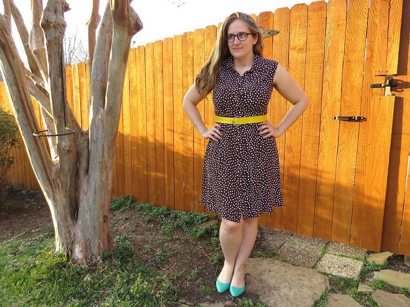 Brown Polka Dot Dress - After