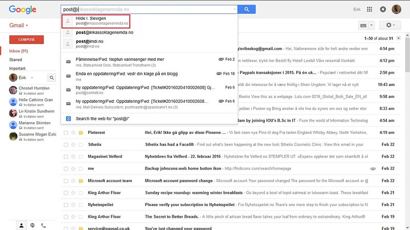 g-mail distraksjon