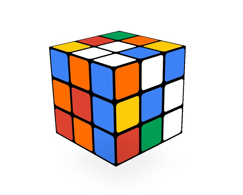 魔術方塊3*3基礎解法LBL教學 口訣公式加動畫保證學會 三階的第一步