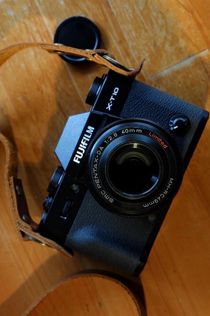 Fujifilm X-T10+XF27mmF2.8+step up ring 39-49mm+lens hood of Pentax DA40mmF2.8 Limited