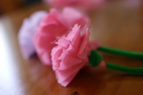 康乃馨纸花(锯齿剪刀很好用)