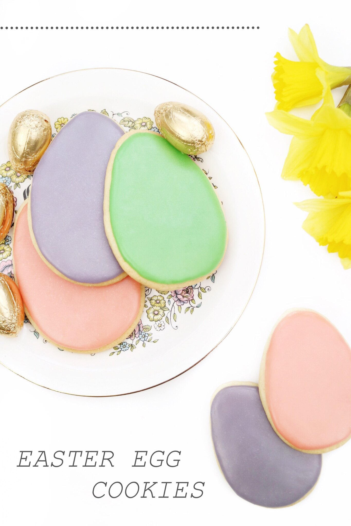 easter egg sugar cookies