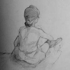 Desenho rápido a partir de um quadro do Toulouse Lautrec, só para aquecimento #toulouselautrec #drawing #pencildrawing #gesturedrawing