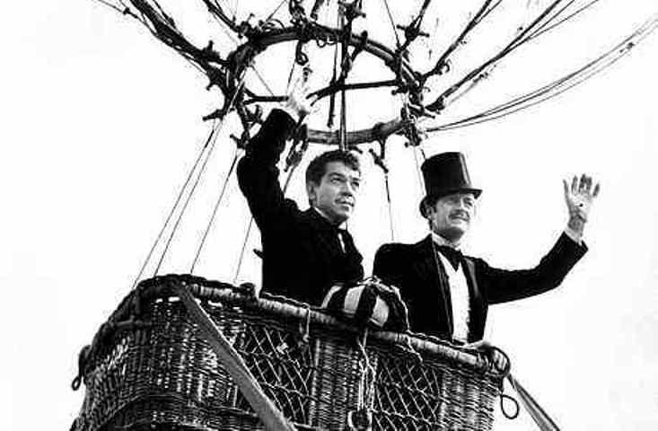Cantinflas y David Niven en La Vuelta al Mundo en 80 días