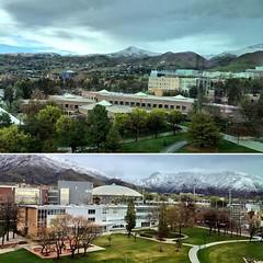 Dusting after the storm. ❄️ #UofU #universityofutah #utwx #SLC #Utah