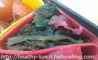 お弁当、2016-4-21、海藻サラダ