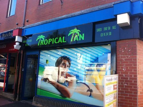 Tropical Tan Shop Signage