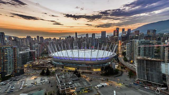 Drone Flight over BC Place