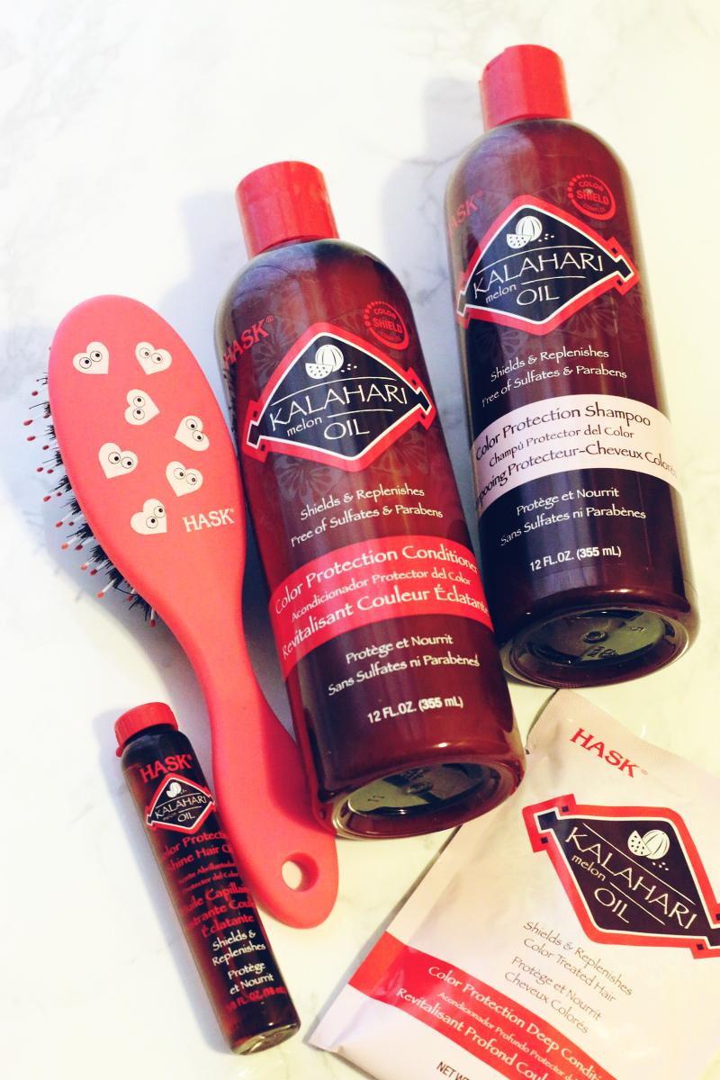 HASK kalahari melon oil hair care products