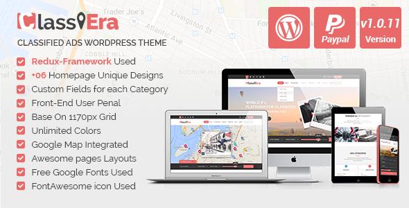 Classiera v1.0.10 - Classified Ads WordPress Theme